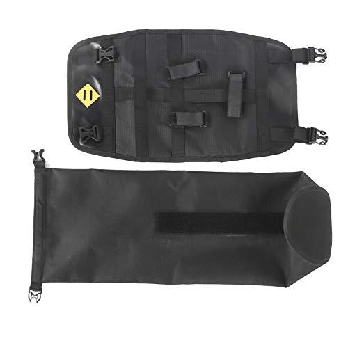 Bolsa para Manillar de Bicicleta   CU-bo Delantero Multifuncional con Barra Transversal de Bicicleta de Montaña Impermeable con Panel Fijo de Gran Capacidad para Deportes de Campo Traviesa