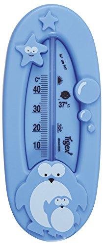 Tigex - Termómetro de baño para bebe, diseño pingüino, color azul