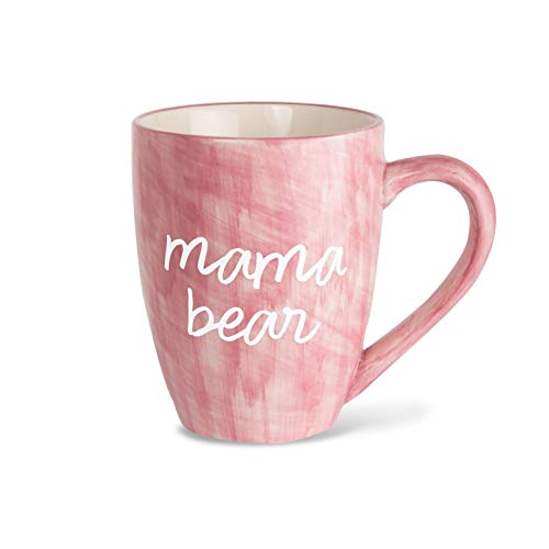 Mom Life Mama Bear Pink Large 20 oz Ceramic Coffee Mug Tea Cup, Pink