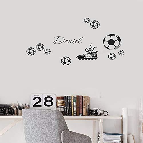 Fußballschuhe Wandtattoos personalisierte Fußballschuhe Abziehbilder Dekoration Kinderzimmer murals60cm x 30cm