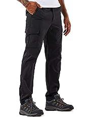 YAWHO Męskie spodnie turystyczne, spodnie trekkingowe, spodnie funkcyjne, szybkoschnące, wodoodporne, wiatroszczelne