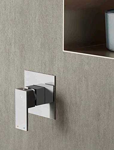 Mitigeur monotrou pour salle de bain, douche encastrée, couleur chrome