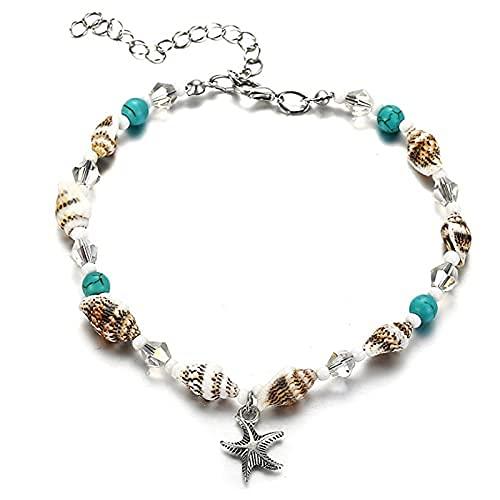 Aoten Conch Starfish - Colgante de playa para mujer o niña, accesorio de playa bohemio