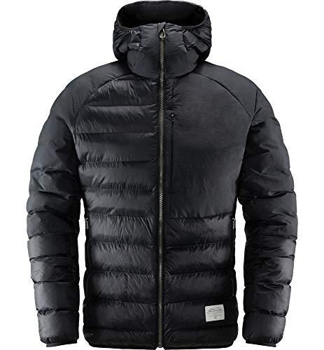 Haglöfs Winterjacke Herren Winterjacke Dala Mimic Hood Wärmend, Atmungsaktiv, Wasserabweisend True Black XL XL - Empty for carryovers -