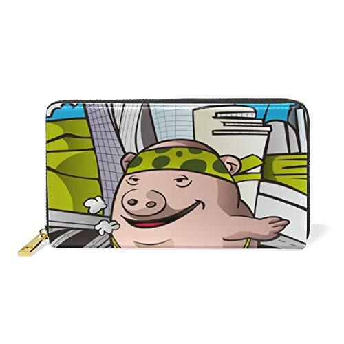 Cochon De Jeu De Joie Cool Portefeuille Femme en Cuir Pochette Long Téléphone Porte Monnaie Cadeau de Filles Dames