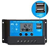 Techtest 10 Amp Solar Charger Controller Panel Battery Intelligent Regulator with USB Port