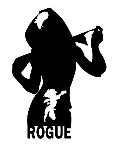 MARVEL COMICS X-MEN ROGUE SILHOUETTE STICKERS SYMBOL 5.5'...