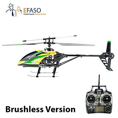efaso RC Helikopter V912 mit Brushless Motor - 2,4 GHz, 4-Kanal Single Blade Gyro Hubschrauber komplett RTF
