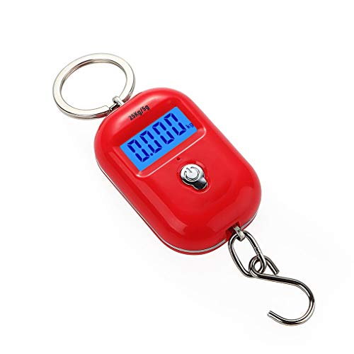 COOLSHOPY Easy to clean New 25Kg x 5g Digital Hanging Scale Mini Electronic Luggage Hook Scale LCD Backlight Kitchen Steelyard Peeling function for cooking, baking, etc. (Color : 2)