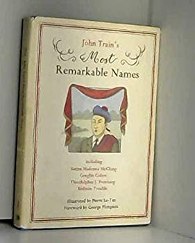 John Train's Most Remarkable Names 0517550970 Book Cover