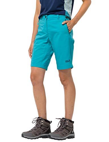 Jack Wolfskin Damen Activate Track Shorts Women Bermudas, Dark Aqua, 38