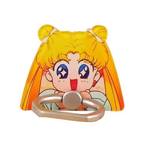 cluis Luna Sailor Moon - Soporte para anillo de telfono mvil, soporte universal, soporte para telfono style 05