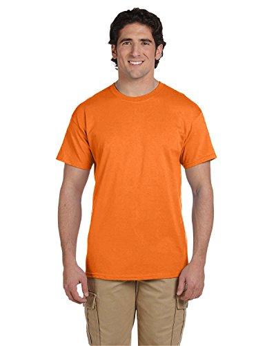 Fruit of the Loom - Camiseta (100% algodón pesado, 141,7 g), color naranja