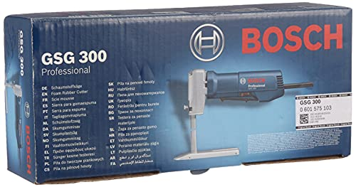 Bosch Professional GSG 300 - Sierra para gomaespuma (350 W, 3200 cpm, profundidad de corte 300 mm, en caja)