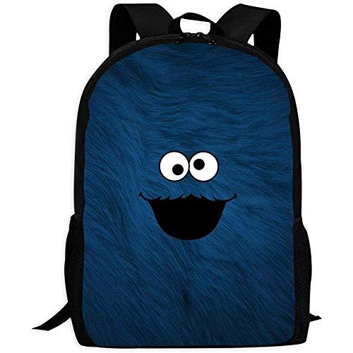 Beating Heart Rucksack/Gedruckt/DaypackSchulrucksäcke Cookie Monster Unisex Kinder Umhängetaschen