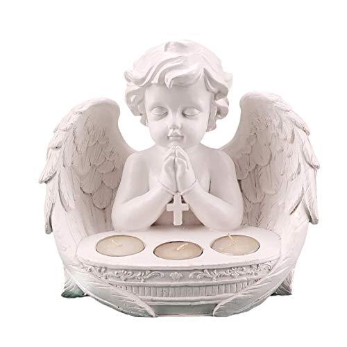 Wisson Engel Kerzenhalter, Sympathie Geschenk In Erinnerung an Geliebte, Engel Harz Figur Teelicht Kerzenhalter, Trauer um die verstorbenen Verwandten und Freunde
