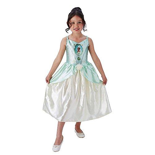 Rubies 's oficial Tiana Niñas Disfraz infantil de Disney princesa cuento de hadas libro para niños