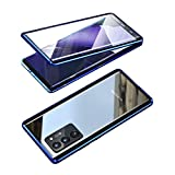 GOOVEN Galaxy Note20 Ultra case Metal Bumper Magnetic Double-Sided Tempered Glass 360° Full Body Protection Built-in Screen Protector Magnetic adsorption (Black, Galaxy Note20 Ultra)