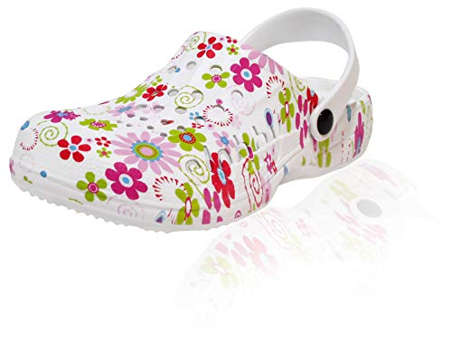 Damen Clogs Hausschuhe Badeschuhe (112B) Pantoffeln Pantoletten Schuhe Neu Größe 39 EU, Farbe Grün