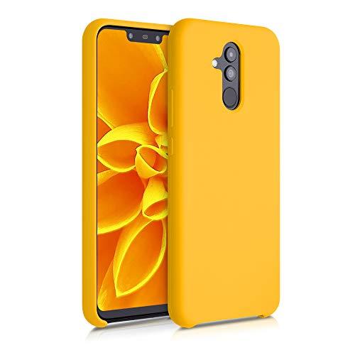 kwmobile Funda Compatible con Huawei Mate 20 Lite - Carcasa de TPU para móvil - Cover Trasero en Amarillo azafrán