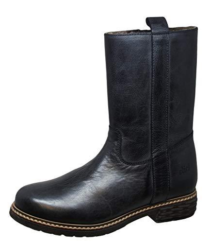Clic! Stiefel Boots Leder Lammfell, Schwarz, EU 34