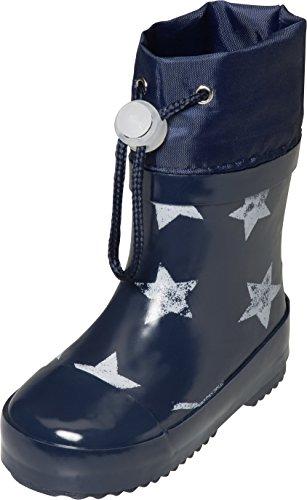 Playshoes Unisex-Kinder Short Wellies Warm Lining Stars Gummistiefel, Blau (Marine 11), 22 EU