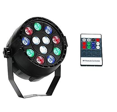 Par Lights RGBW 12x3W Leds Uplights Stage Lights Sound Activated Or DMX Control with Remote