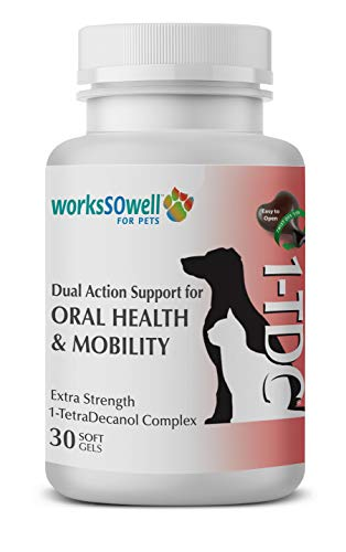 1TDC – Dual Action Natural Support – 30 Twist Off Soft Gels – Delivers 4 Major Health Benefits for Dogs & Cats – Supports Oral Health, Hip & Joint Health, Muscle & Stamina Recovery, Skin & Coat Health