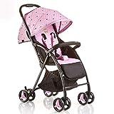 Cochecitos cómodos Cochecito de bebé, Sistema de Viaje Carro de bebé multifunción Carritos de bebé La luz se Puede sentar Acostado Carro de bebé Carro de bebé recién Nacido Ajustable (Color: Rosa)