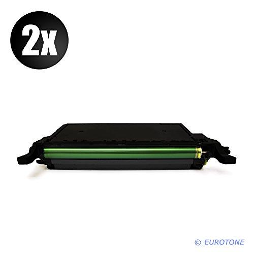 2X Eurotone Toner Kartusche für Samsung CLP 620 670 CLX 6220 6250 ersetzt Schwarze CLT-K5082L Patrone Alternative