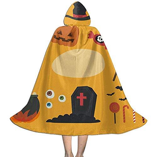 Zome Lag volwassen capuchon mantel, Rol Play Dress Up,Wizard Cape, Mannen Womens lengte mantels, Geest, vleermuizen en pompoen Halloween capuchons,Party Cosplay kostuum,Cloak Cape