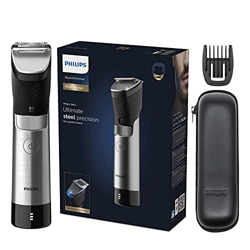 Philips Beard & Stubble Trimmer for Men, 9000 Prestige, 30 Length Settings,...