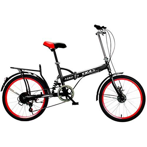 SXRKRZLB Bicicletas Ultraligero al por mayor de 16 pulgadas hombres y mujeres adultos de cercanías portátil de velocidad variable de bicicletas Actividad absorción de impactos bici de la velocidad var