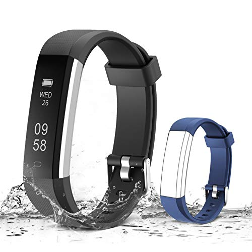 Muzili Activity Tracker, Bluetooth - Black,Blue