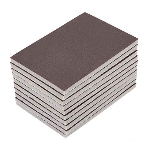 10pcs Platz Sponge Schmirgelpapier 120/180/240 Grit Feinpolierschleifpapier Schleifwerkzeuge XIAO DIAO (Grit : 120)