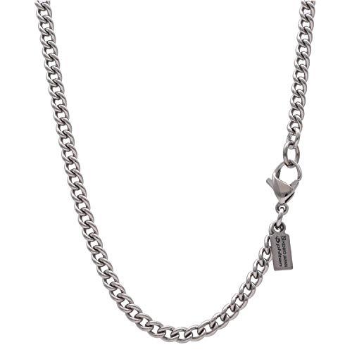 [KJファイテン]KJ phiten [限 定 品] チタン ネックレス 喜平 長さ40〜60cm (45cm) 幅3.3mm チェーン メンズ レディース 日本製