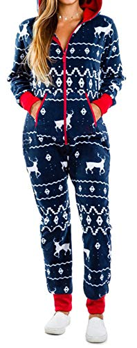 Huyghdfb Women Christmas Non-Footed Hooded Pajama Nightwear...