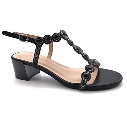 Angkorly - Chaussure Mode Sandale Escarpin salomés Ouverte...