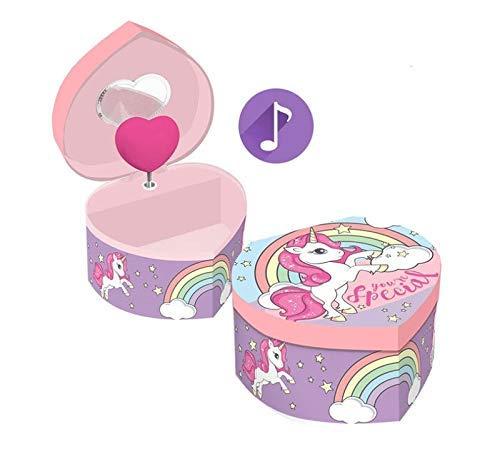 Desconocido Kids Licensing, portagioie Musicale a Forma di Cuore di Unicorno, Multicolore, Unico