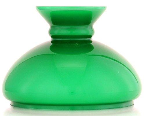 Grüner Vesta Glasschirm, unterer Randdurchmesser 187 mm, Höhe 140 mm