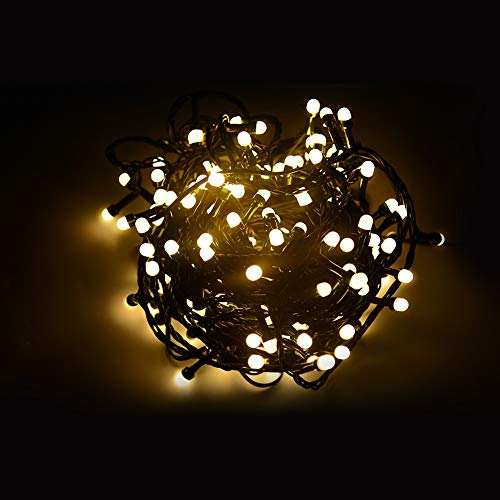 NOVOLINK LED String Lights, 48.9ft Indoor/Outdoor Fairy String Lights, 200 LED Wireless Control Waterproof Christmas Tree Lights, DIY Flashing Mode and Timer Christmas Decoration for Yard, Party(Warm)
