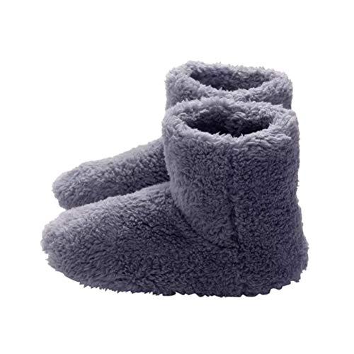 Fußwärmer Elektrische Fußwärmer USB beheizter Stiefel Heizschuhe Winter Plüsch Paar Schuhe Pantoffel Waschbare Schneeschuhe für Weihnachten Valentinstag Liebhaber Geschenk
