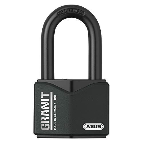 ABUS, Granit 37/55HB50 SZP, 79131, hangslot, premium slot voor de hoogste eisen, extra hoge beugel, veiligheidsniveau 10, incl. 2 sleutels en veiligheidskaart, zwart