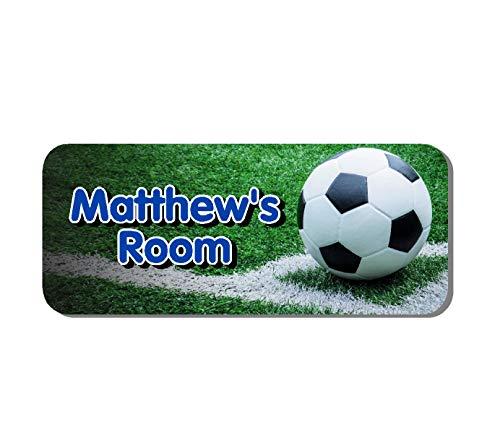 Football personnalisé pour chambre d'enfant plaque de porte Bleu (Ss30045)
