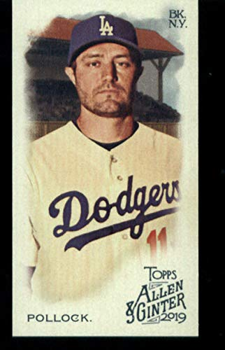 2019 Topps Allen and Ginter Base MINI #234 A.J. Pollock Los Angeles Dodgers Official MLB Baseball Trading Card (very small size)