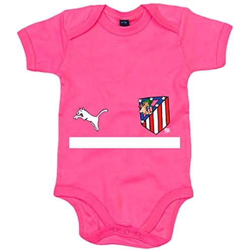 Body bebé segunda equipación Atleti de los 80 Atlético de Madrid - Rosa, 6-12 meses