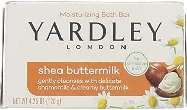 Yardley London Shea Buttermilk Sensitive Skin Naturally Moisturizing Bath Bar, 4.25 ounce