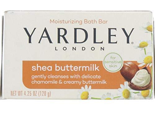 Yardley London Shea Buttermilk Sensitive Skin Naturally Moisturizing Bath Bar 425 ounce