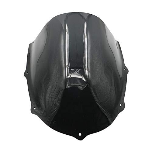 LUJIAN Motocicleta Parabrisas Fit For Aprilia RS50 RS125 RS250 Motocicleta Parabrisas Parabrisas RS 50 125 250 1999-2005 (Color : Black)