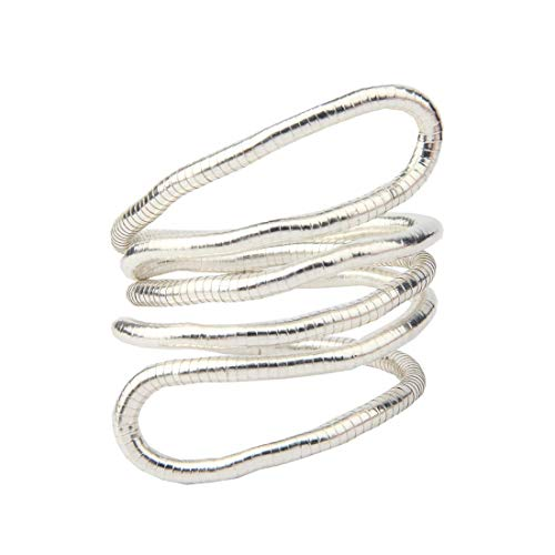 Kuiyai, collana a serpente pieghevole, multiuso, flessibile e base metal, cod. UKKY- BendableSnakeN